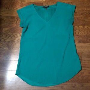 Green express roll sleeve Gramercy blouse